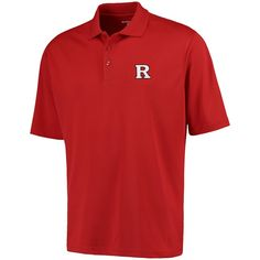 Mens Rutgers Scarlet Knights Antigua Scarlet Logo Grande Pique Polo, Men's, Size: 2 XL, RUT Red