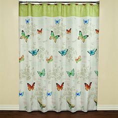 Saturday Knight Butterfly Bliss Fabric Shower Curtain Multicolor *** Want to know more, click on the image.