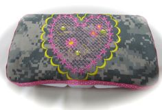 ACU ARMY fabric decorated baby wipe case by DarLynDesigns on Etsy, $12.00