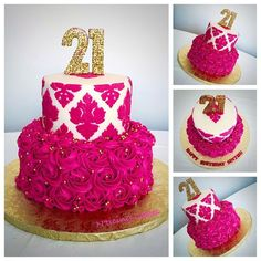 Image result for gold and cream 70th birthday cakes