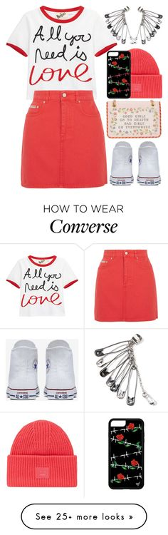 """Statement outfit"" by aleks-g on Polyvore featuring Alice + Olivia, AlexaChung, Converse, Moschino and Acne Studios"