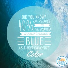 Interesting fact about the color blue. #Scifest