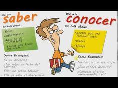 ▶ CONOCER VS. SABER in depth by www.esaudio.net - YouTube