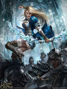 Legend of the Cryptids card: Laylanne of the Crystal Keep adv. version