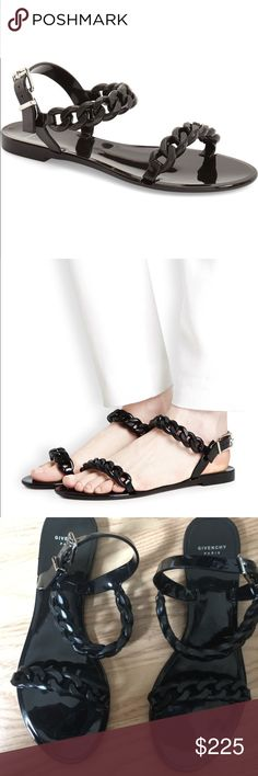 Givenchy gel chain sandals! Gorgeous Givenchy Chain sandals! Size 40. Only ver tried on. I'm a 9-9.5 and slightly small. Best for an 8.5-9. Please message with any questions :) Givenchy Shoes Sandals