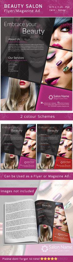 Classy Salon Flyer/ Magazine Ad  #GraphicRiver