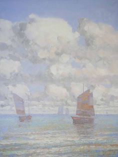 "ARTFINDER: Harbor Handmade oil painting Original... by Vahe Yeremyan - Artist: Vahe Yeremyan Work: Original oil Painting, One of a Kind Medium: Oil on Canvas Year: 2015 Style: Impressionism Subject: Sail Boats Size: 40"" x ..."