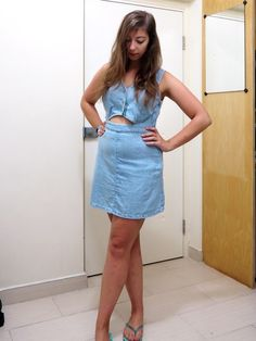 Outfit - Dressing in Denim | A denim summer dress in this fashion blog post
