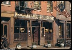 Pub: McSorley's Old Ale House, still open today, is pictured on East 7th Street…