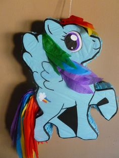 Rainbow Horse Piñata by pinatarte1 on Etsy