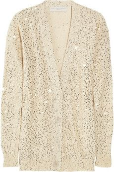 Stella McCartney | Sequined cotton-blend cardigan | NET-A-PORTER.COM - StyleSays