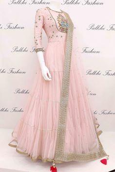Pale Pink Designer Outfit with Elegant Handwork