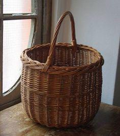 Pannier Basket アンティークバスケットかごパニエ フランスブロカント インテリア 雑貨 家具 Antique ¥15800yen 〆06月10日