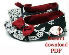 De costura. Bebé. Patrón. Suela blanda de formal bailarinas botines cuna DIY tutorial imprimible para niños pequeños recién nacidos