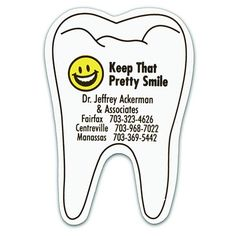Promotional Dental Assistant Tooth Magnet