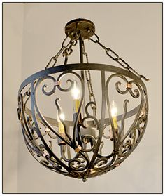 old world light fixtures | Wrought Iron Chandelier CH044