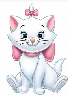Chats Disney, Disney Cats, Marie Aristocats, Aristocats Party, Disney Mignon, Chibi, Marie Cat, Cute Disney Wallpaper, Cat Drawing