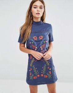 Fashion Union | Цельнокройное платье с вышивкой Fashion Union
