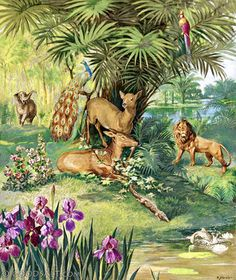 Garden of Eden Genesis 1 Images Bible, Bible Pictures, Art Images, Art Pictures, Spiritual Paintings, Eden Project, Welcome To The Jungle, Garden Of Eden, New Earth