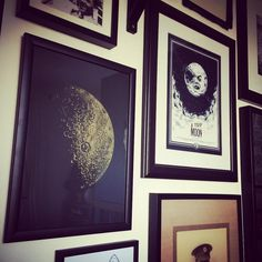 Sabrina Kaici's Gold Foil Half Moon has got great company! #gold #foil #art #artonpinterest.  More artworks by the artist can be found here: http://www.nellyduff.com/artists/sabrina-kaici