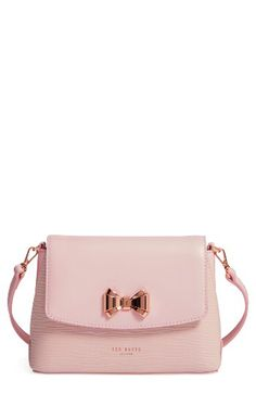 Ted Baker London Ted Baker London Leather Crossbody Bag available at Pink Crossbody Bag, Black Leather Crossbody Bag, Leather Shoulder Bag, Tote Bag, Shoulder Bags, Shoulder Handbags, Pink Handbags, Leather Handbags, Trendy Handbags