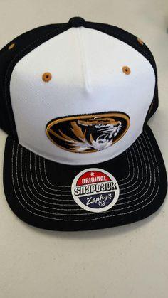 new styles 67cd0 60945 Missouri Tigers Flat Bill Adjustable Snapback Hat by Zephyr www.shopmosports .com Missouri Tigers