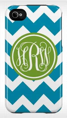 Chevron and monograms. What's not to love?
