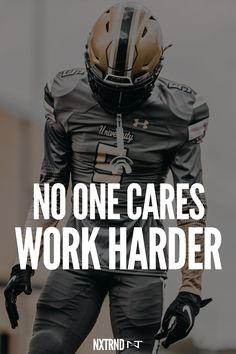 No one cares about your problems. Work harder. #FootballQuotes #SportQuotes #Motivation #Inspiration #Football #Nxtrnd #Training Best Football Quotes, Basketball Quotes, Athlete Motivation, Best Quotes, Life Quotes, Motivational Quotes For Athletes, Mouth Guard, American Sports, Sport Quotes