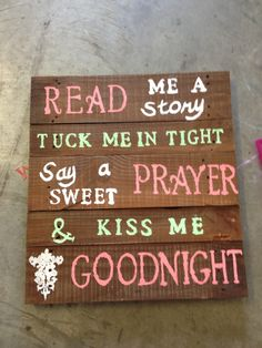 Pallet art quote cute for kids room