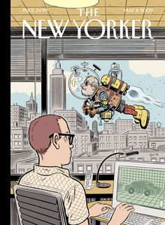 Clowes New Yorker illustration in running for magazine cover of ...