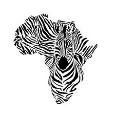 Map Of Africa With The Head Zebra Stock Vector - Illustration of illustration, surrealist: 53315696 Art Clipart, Vector Art, Africa Map Tattoo, Africa Silhouette, Silhouette Frames, Silhouette Tattoos, Afrika Tattoos, Afrique Art, Especie Animal