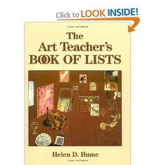 Amazon.com: The Art Teacher's Book of Lists (9780787974244): Helen D. Hume: Books