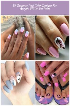 Summer nail designs can boost your mood instantly. Just check them out and you'll agree! nail art designs Summer 79 Summer Nail Color Designs For Acrylic Glitter Gel Nails