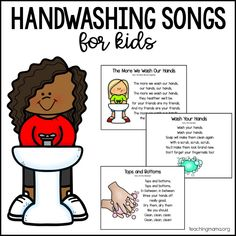 Handwashing Songs for Kids - Teaching Mama Kindergarten Songs, Preschool Songs, Preschool Learning, Kids Songs, Kindergarten Classroom, Teaching Kids, Classroom Ideas, Body Preschool, Preschool Prep