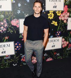 Kitsch at last night's H&M x Erdem runway show in LA looking very handsome