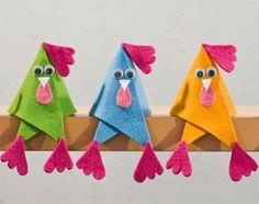 Ostern basteln mit Filz Cute idea in German Kids Crafts, Felt Crafts, Easter Crafts, Diy And Crafts, Arts And Crafts, Chicken Crafts, Chicken Art, Funny Chicken, Animal Crafts