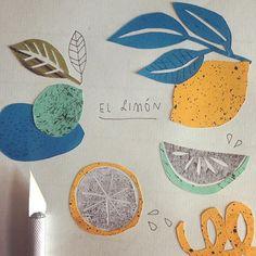 El limon! Eine unverzichtbare Zutat für #Mexican #cooking , #wip #papercut #tacotales #annewenkel #illustration #lemon #zitrone