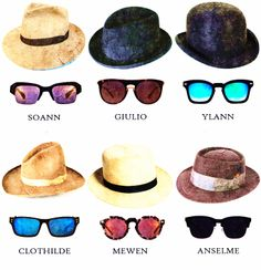 how to math your hat with sunglasses? follow this #hat #sunglasses #men #eyewear #eyeglasses #fashion
