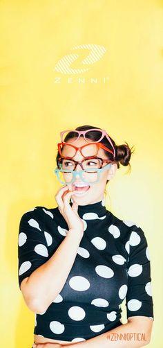 Choice is the biggest struggle with #ZenniOptical Photos: Mandee Rae Model: Hailee Keanna Makeup & Hair: Taylour Chanel Stylist: Karla Ortiz