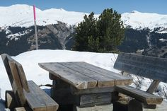 Picnic benches on Chalet Runca Hiking Holidays