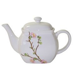 @Overstock - This teapot set by Corelle Coordinates features a 48-ounce capacity. With Corelle's classic Cherry Blossom design, these canisters will add elegant decor to any kitchen.http://www.overstock.com/Home-Garden/Corelle-Cherry-Blossom-Teapot/5333657/product.html?CID=214117 $19.61