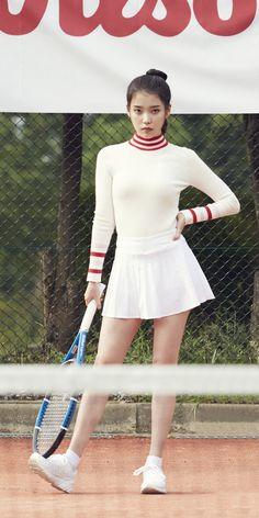 I hope someday u merrid someone like u. Tennis Fashion, Iu Fashion, Kpop Girl Groups, Kpop Girls, Korean Girl, Asian Girl, Best Photo Poses, Human Poses, Tennis Clothes