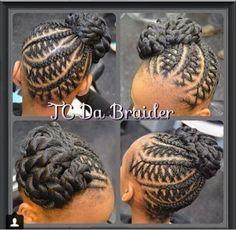 intricate braided updo