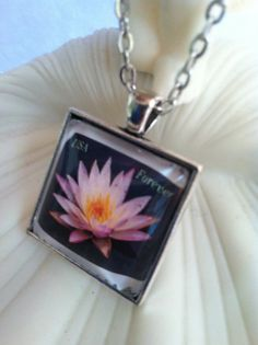 Light Purple Lotus Flower Lily Pad Dome by MichellesVarietyShop
