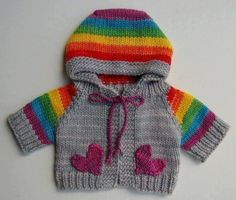 How to tutorial knitting and crochet baby pattern free Baby Cardigan Knitting Pattern, Baby Knitting Patterns, Knitting Designs, Baby Patterns, Crochet Patterns, Crochet For Boys, Knitting For Kids, Knit Or Crochet, Pull Jacquard