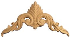 Hand carved Beech Wood Saint George Applique Rosette
