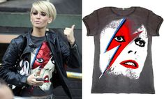Found: Sarah Harding's David Bowie Aladdin Sane T-Shirt
