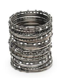 I love the black metal bangles