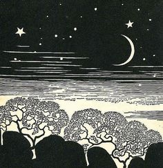 Don Blanding: Starry Night With Trees, 1948.
