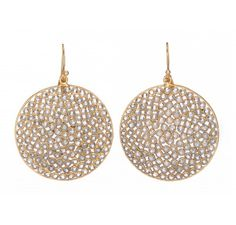 Gold Plated sterling silver earrings with Open Polki Crystal settings.